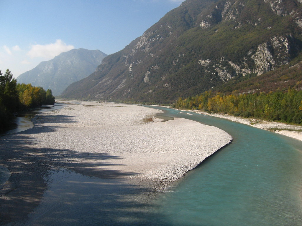 The Tagliamento: the river of Hemingway, Pasolini and Nievo, 60 years after Hemingway's death